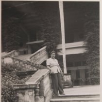 Image of W. Perilman-woman on step - Print, Photographic