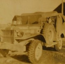 Image of Churchman-Men in a Jeep h - Print, Photographic