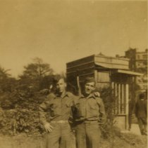 Image of Churchman-2 men outside a - Print, Photographic