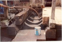 Image of Print, Photographic - Color photo of engine bed looking aft on CLYDE A PHILLIPS.