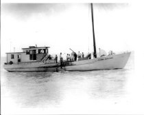 Image of Print, Photographic - FLYING DOLPHIN owned by Harry F. Gates.  This vessel replaced VALENTINE COSIER.