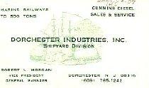 Image of Business Card Dorchester Ind.