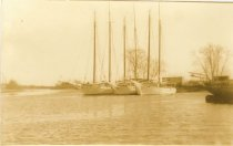 Image of scanned photograph - (2)  boats at Dorchester including ALERT, KATH? & ELMA