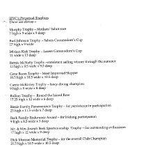 Image of trophy list
