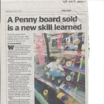 Image of A Penny board sold is a new skill learned - Daily Pilot article about Jordan Pratt and his skate board business.