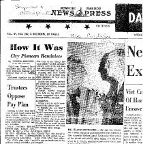 Image of How It Was - Copy of article from Newport Harbor news press reporting on event called Early Settlers Dinner .