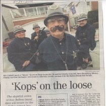 """Image of """"Kops"""" on the loose - Daily Pilot article about the Keystone Kops"""