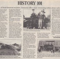 Image of History 101 - The Current issued 1/1/04 with 2 articles about 1) local museums and 2) little known facts about Balboa Island