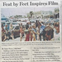 Image of Feat by Feet Inspires Film - Article in the Independent about Dave Kunst who walked around the world
