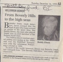 """Image of From Beverly Hills to High Seas - Daily Pilot """"Millenium Moment"""" about Buddy Ebsen"""