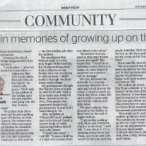 Image of Basking in Memories of growing up on the island - Daily Pilot article about memories of growing up on the Island