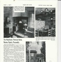 Image of The Mayflower, Peterson Home, Retains Diginity, Personality - Article about the local Mayflower house 910 Park Ave. which was at the corner of Park and Coral