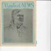 """Image of Nautical News - Nautical News April 1973 V.1 No.4 edition with """"Sailing with Buddy"""" article. Linda Rogers was the artist who drew this piece on Buddy while on the """"PolyCon"""" in 1973. She also sketched Buddy, as did Nelson Eddy in 1965 while on a jaunt over to Catalina."""