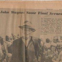 Image of Daily Pilot Newspaper-John Wayne 4 - 2017.56.07