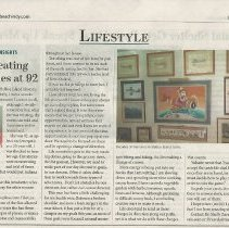 Image of Vintage Home Tour Article 2 - Vintage Home Tour newspaper article.