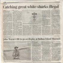 Image of John Wayne Articles - John Wayne newspaper articles.