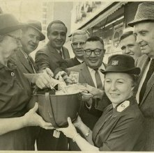 Image of 0120-006_01-13-005 - John P. Rousakis and Others Donate to Salvation Army