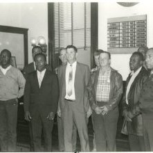 Image of 0120-006_01-16-003 - Graduating Supervisors in City Hall
