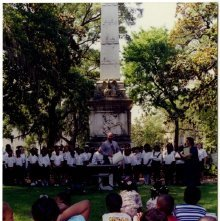 Image of 0123-045_01-11-001 - Ceremony at Pulaski Monument