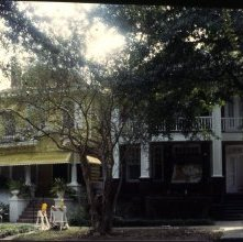 Image of 0123-045_05-26-008 - View of Two Houses on a Savannah Street