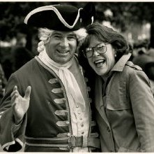 Image of 0123-045_07-52-014 - Susan Weiner and Man in Colonial Costume at Georgia Day 1993 Celebration