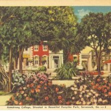 Image of 1121-057_0005 - Armstrong College, Situated in Beautiful Forsythe Park, Savannah, Ga.--3