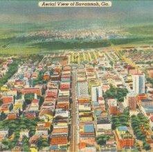 Image of 1121-057_0012 - Aerial View of Savannah, Ga.