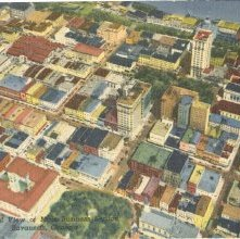 Image of 1121-057_0016 - 7--Aerial View of Main Business Section / Savannah, Georgia