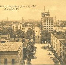 Image of 1121-057_0051 - Bird's Eye View of City, South from City Hall, Savannah, Ga.
