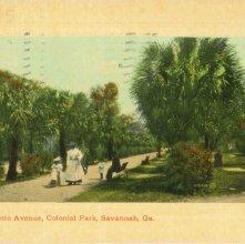 Image of 1121-057_0081 - The Palmetto Avenue, Colonial Park, Savannah, Ga.