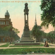 Image of 1121-057_0139 - Gordon Monument and Wright Square, Savannah, Ga.