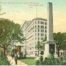 Image of 1121-057_0149 - Greene Monument and Bank Buildings, Savannah, Ga.