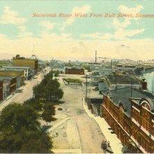 Image of 1121-057_0169 - Savannah River West From Bull Street, Savannah, Ga.