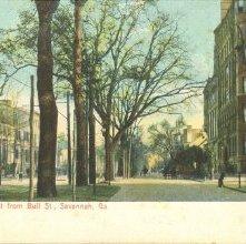 Image of 1121-057_0193 - Liberty St., East from Bull St., Savannah, Ga.