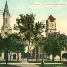 Image of 1121-057_0200 - Lutheran Church and Court House, Savannah, Ga.