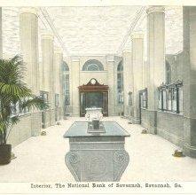 Image of 1121-057_0205 - Interior, The National Bank of Savannah, Savannah, Ga.