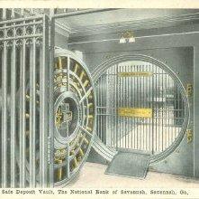 Image of 1121-057_0206 - Safe Deposit Vault, The National Bank of Savannah, Savannah, Ga.