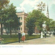 Image of 1121-057_0220 - Savannah, Ga.  Oglethorpe Avenue Looking West.