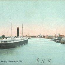 Image of 1121-057_0263 - Ocean Steamer leaving Savannah, Ga.