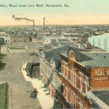 Image of 1121-057_0268 - Savannah Harbor, West from City Hall, Savannah, Ga.