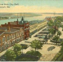 Image of 1121-057_0269 - Savannah River from City Hall, Savannah, Ga.