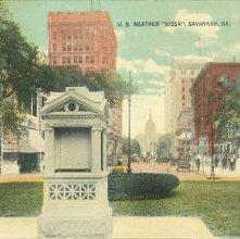 "Image of 1121-057_0324 - U.S. WEATHER ""KIOSK"", SAVANNAH, GA."