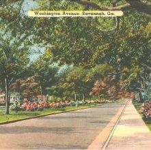Image of 1121-057_0335 - Washington Avenue, Savannah, Ga.