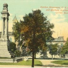 Image of 1121-057_0349 - Gordon Monument, U.S. Post Office and Chatham Artillery Armory. (1776) Savannah, Ga.