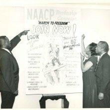 Image of 1121-100_0069 - 1962 NAACP Membership Banner