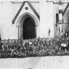 Image of 1121-100_0169 - Boy Scout Group, Cathedral of St. John the Baptist