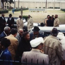Image of 1121-100_0227 - Group Outside of a Funeral