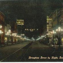 Image of 1121-057_0404 - Broughton Street by Night, Savannah, Ga.