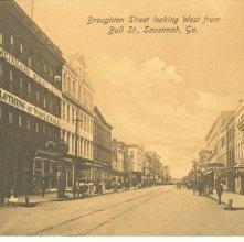Image of 1121-057_0407 - Broughton Street looking West from Bull St., Savannah, Ga.