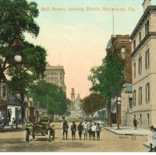 Image of 1121-057_0457 - Bull Street, looking North, Savannah, Ga.
